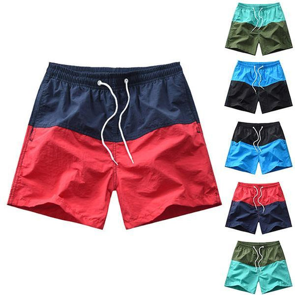 Men's Fashion Minimalist Colorblock Beach Shorts