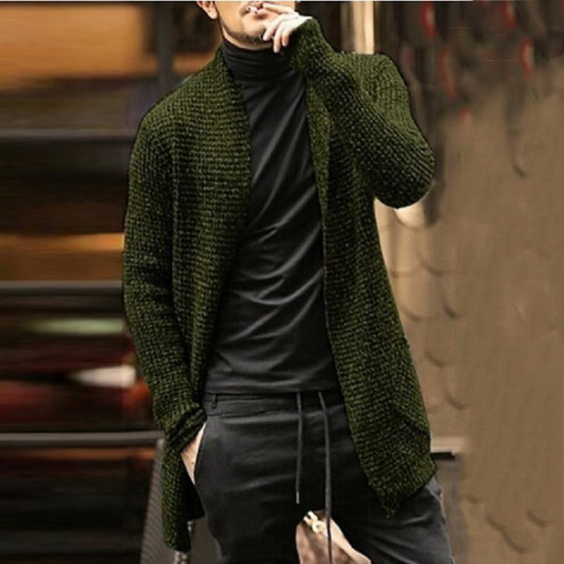 Fashion Casual Solid Long Sleeved Knit Sweaters