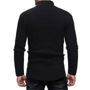 Casual Slim Fit High Collar Sweater