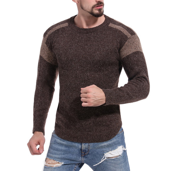 New Color Block Round Neck Sweater