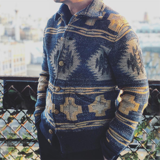 National Men's Autumn Single Breasted Cardigan Sweater