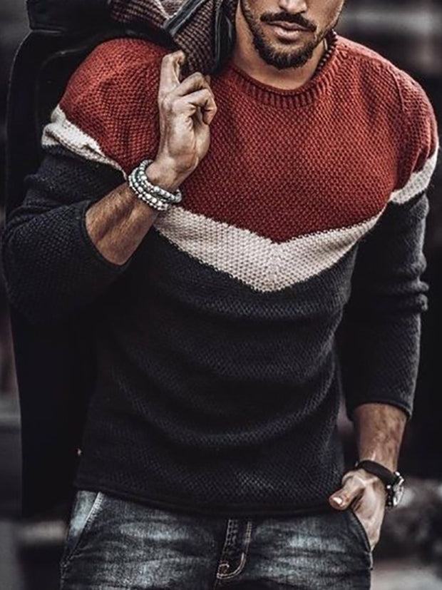 Men's Stylish Casual Striped Sweater