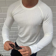 Men's Casual Round Neck Solid Colour Loose T-shirt