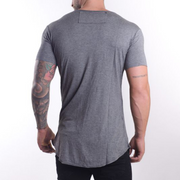 Casual men's round neck short sleeve T-shirt