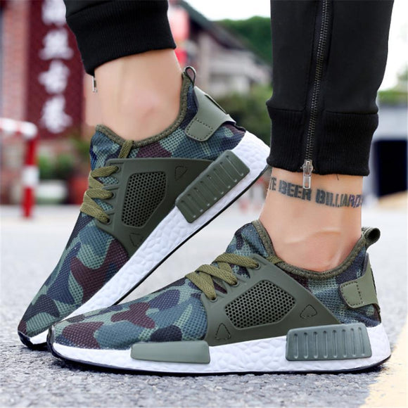 Mesh camouflage breathable sneakers
