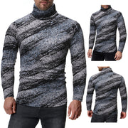 Casual Slim Striped Turtleneck Long Sleeve T-Shirt