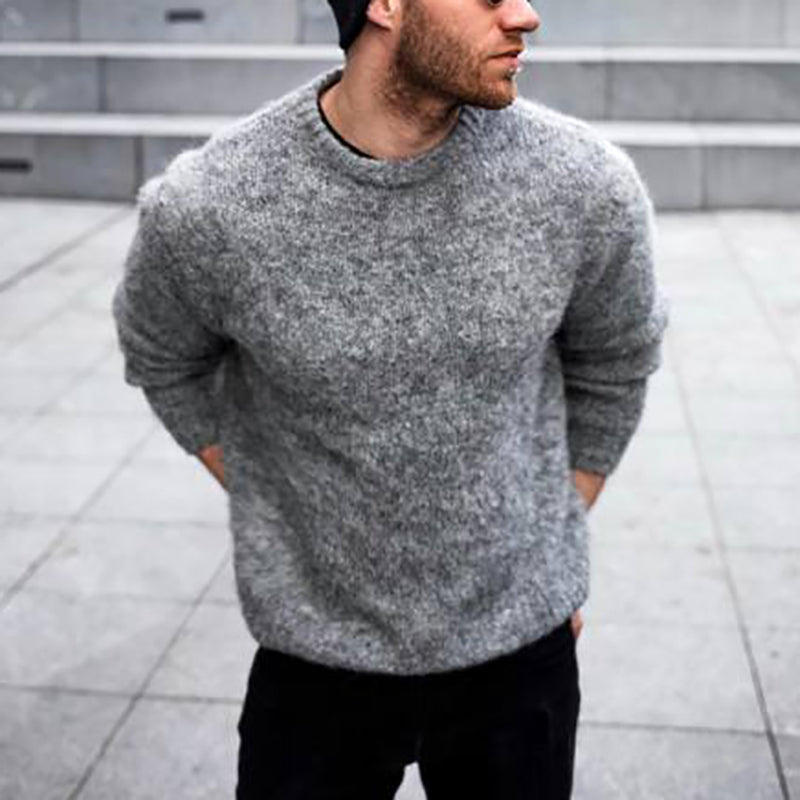 Men's Casual Solid Color Sweater
