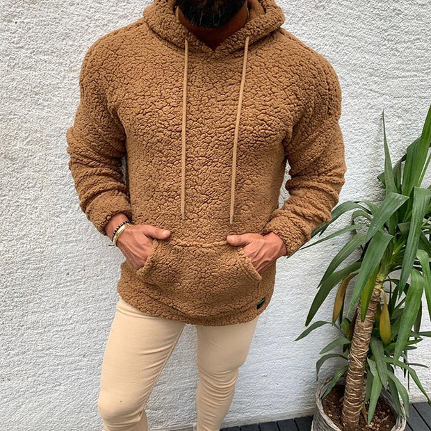 Casual Men'S Solid Color Hooded Sweatshirt