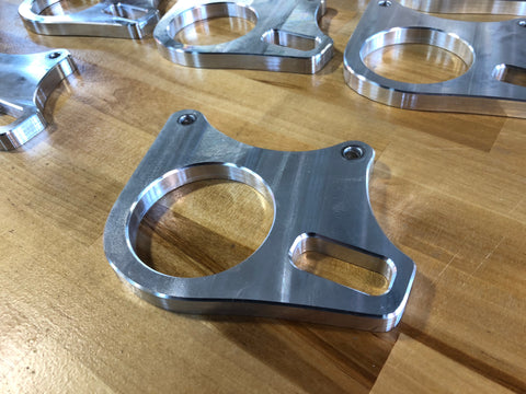 Billet TRX450R rear caliper bracket