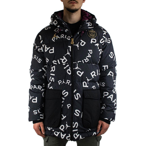 Jordan Paris Saint-Germain Daunen Parka All Over Print Winter Jacke CK9736-010-