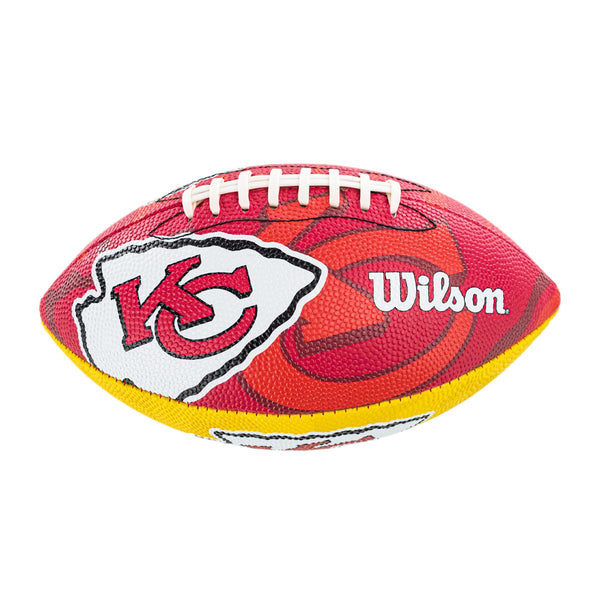 Wilson Kansas City Chiefs NFL Junior Team Logo (Gr. 7) American Football WTF1534XBKC-