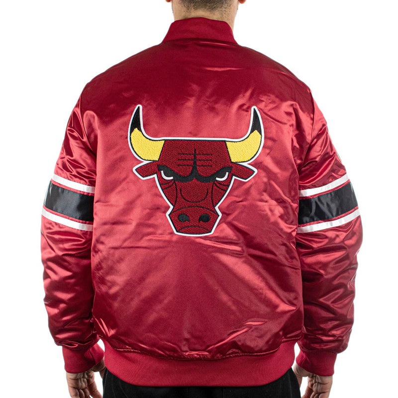 Mitchell & Ness Chicago Bulls NBA Heavyweight Satin Jacke AJ19036-CBUSCAR-