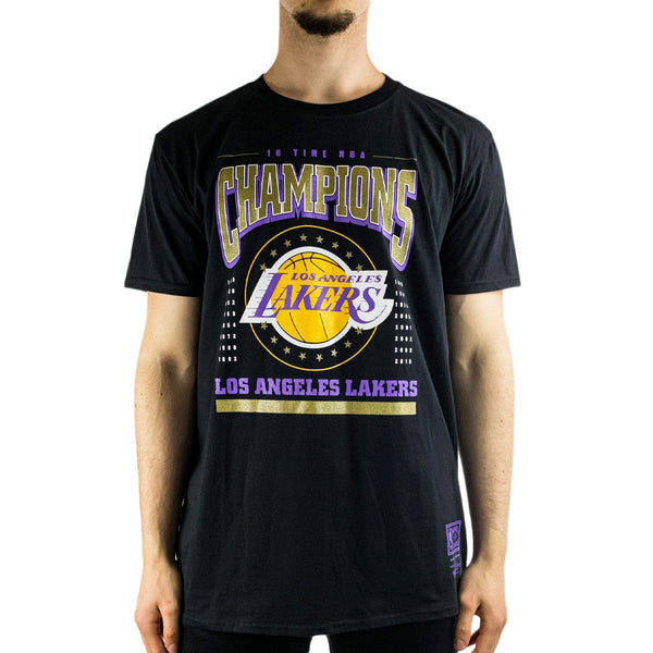 Mitchell & Ness Los Angeles Lakers NBA Champions T-Shirt BMTRINTL934-LABLCK-
