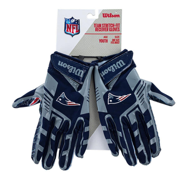 Wilson Youth New England Patriots NFL Stretch Fit Gloves Handschuhe WTF9327NE-