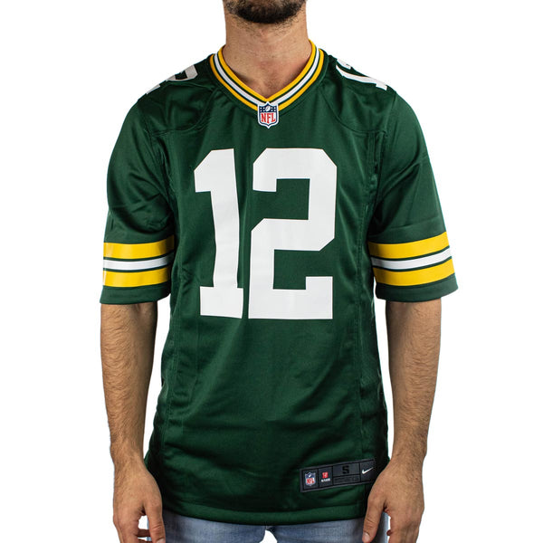 Nike Green Bay Packers NFL Aaron Rodgers #12 Game Team Colour Jersey Trikot 67NMGPGH7TF2NA-