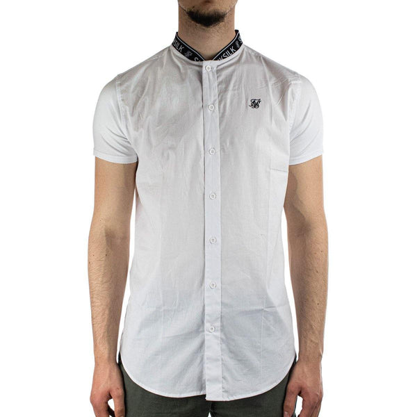 SikSilk Tape Collar Hemd SS-16804white-
