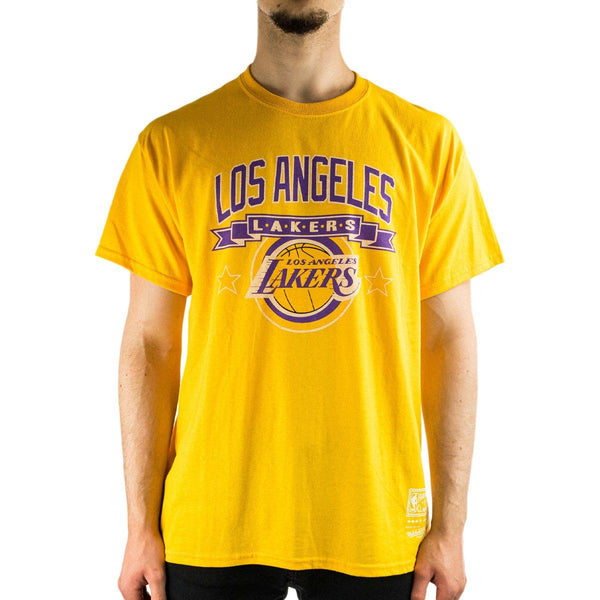 Mitchell & Ness Los Angeles Lakers NBA T-Shirt BMTRINTL940-LALYELL-