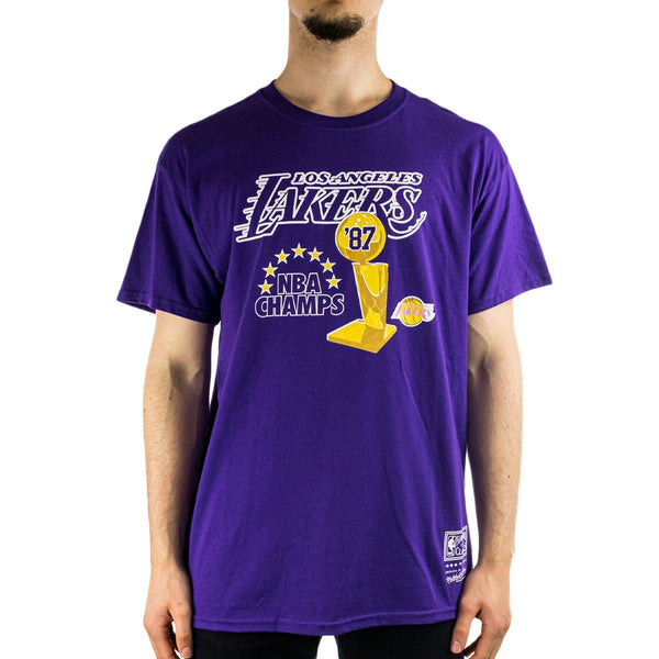 Mitchell & Ness Los Angeles Lakers NBA 87 Champs T-Shirt BMRTINTL942-LALPURP-