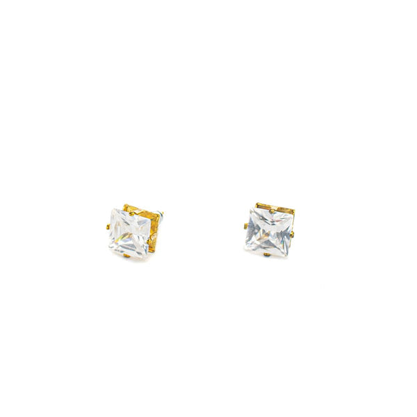 NYC 10mm eckig gold Ohrring -