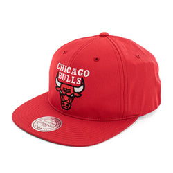 Mitchell & Ness Chicago Bulls NBA Team Logo Deadstock Throwback Snapback Cap MN-NBA-INTL462-CHlBUL-RED-