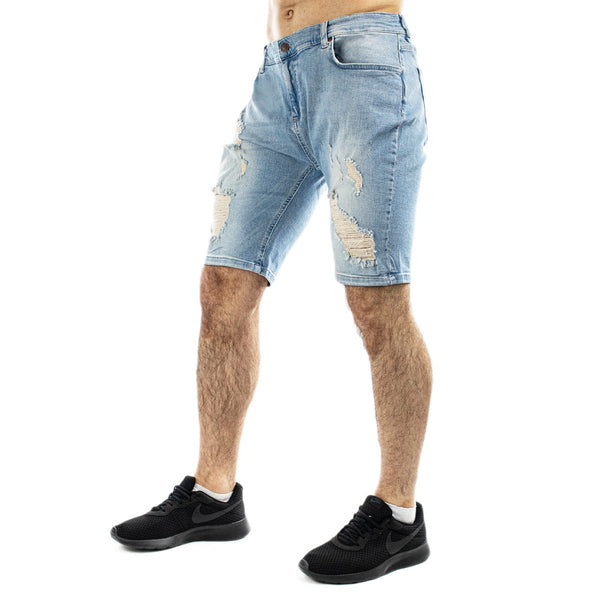 SikSilk Distressed Skinny Core Short SS-13008-