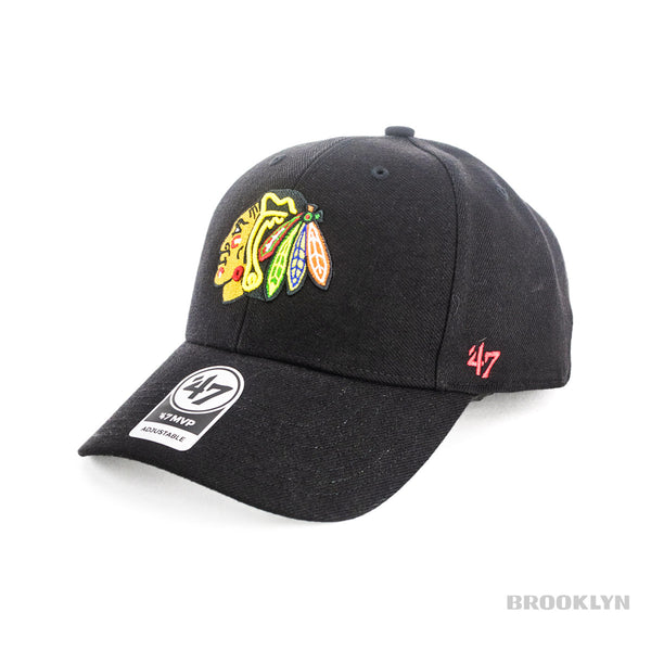 47 Brand Chicago Blackhawks NHL MPV Full Cap H-MVP04WBV-BKA-OSF