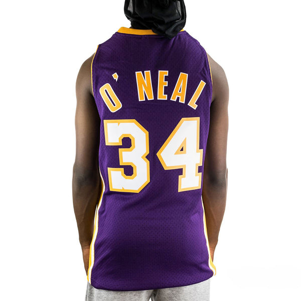 Mitchell & Ness Los Angeles Lakers Shaquille O Neal 34 NBA Swingman Jersey 2.0 Trikot SMJYGS18447-LALPURP99SON-