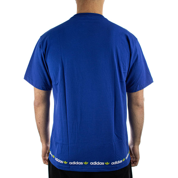 Adidas Linear Repeat T-Shirt GN7128 - blau-weiss