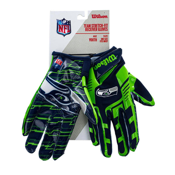 Wilson Youth Seattle Seahawks NFL Stretch Fit Gloves Handschuhe WTF9327SE-