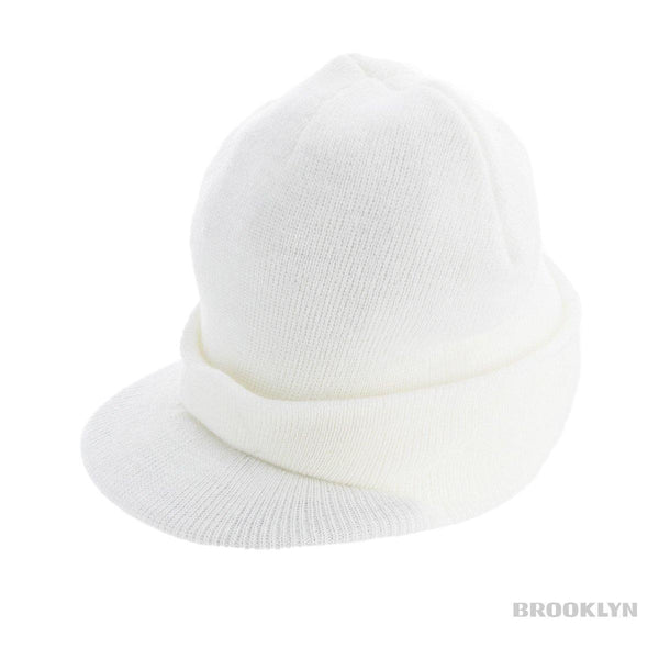 NYC NYC Plain Visor Beanie Winter Mütze -