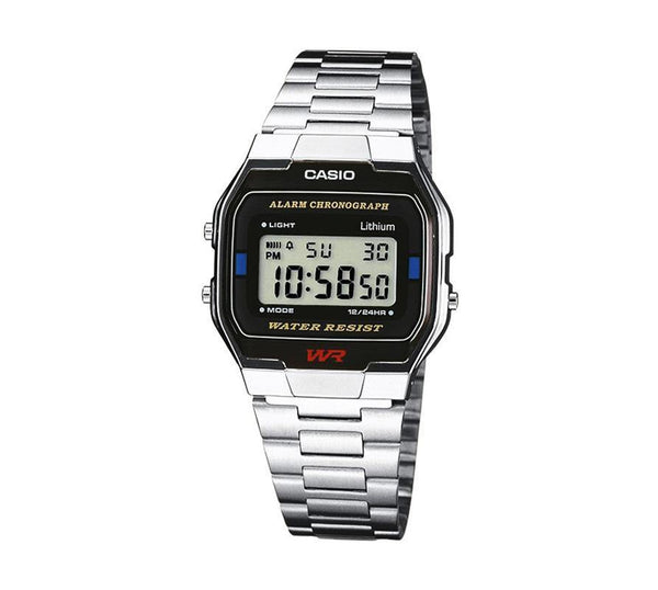 Casio Retro Digital Armband Uhr A163WA-1QES-