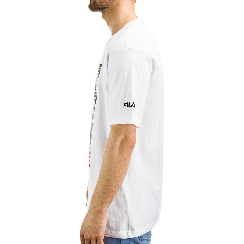 FILA Caradoc Dropped Shoulder T-Shirt 687684 M67 bright white-