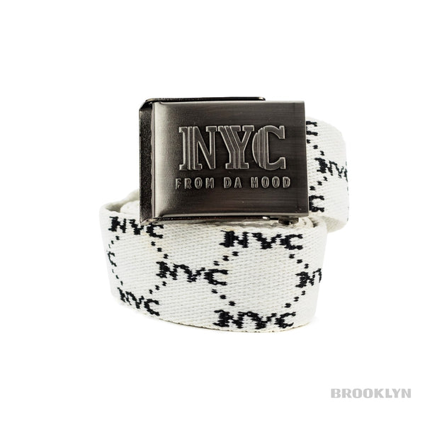 NYC All Over Printed Gürtel NYCWB-WHT-