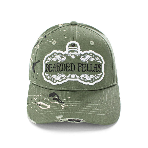 Lauren Rose Bearded Fellas Cap BeardedFelleasGreenWhite-