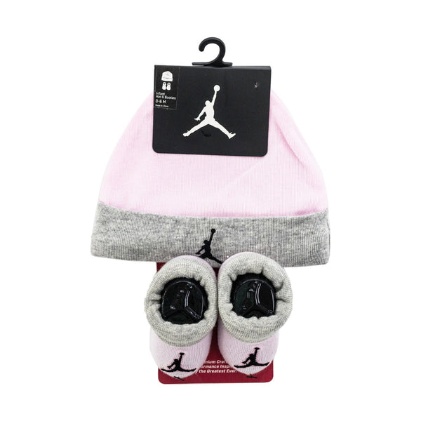 Jordan Basic Hat and Bootie Combo Set 0-6 Monate LJ0102-A9Y-