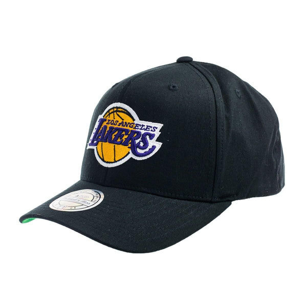 Mitchell & Ness Los Angeles Lakers NBA Team Logo High Crown 6 Panel 110 Snapback Cap 6HSSINTL537-LALBLCK-