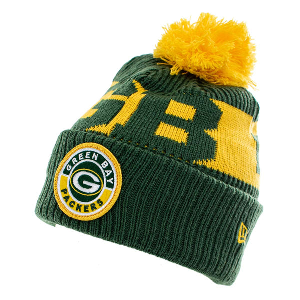 New Era Green Bay Packers NFL On Field Sport Knit Winter Mütze 60011865-