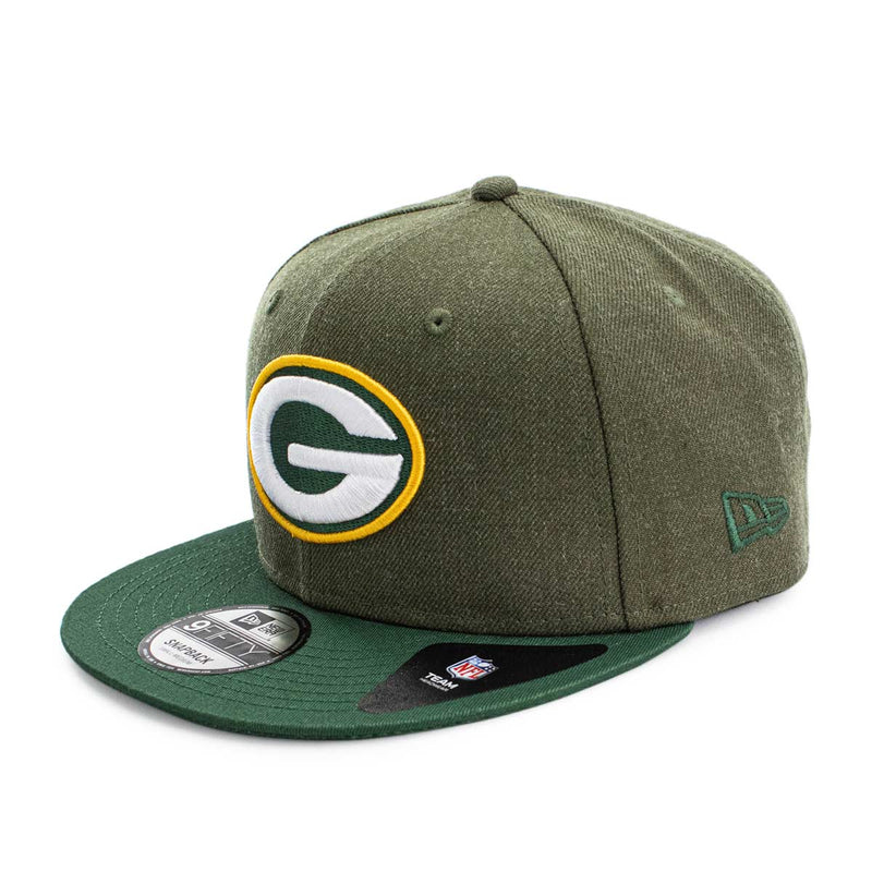 New Era 950 Green Bay Packers NFL Heather Crown Cap 12381127-