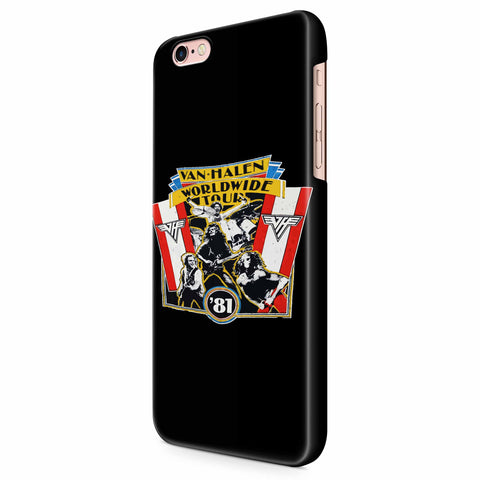 1981 Vintage Van Halen World Wide Tour iPhone 6/6S/6S Plus | 7/7S/7S Plus | 8/8S/8S Plus| X/XS/XR/XS Max 3D Case