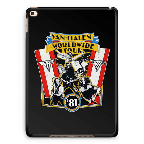 1981 Vintage Van Halen World Wide Tour iPad 2 / 3 / 4 / 5 / 6| iPad Air / Air 2 | iPad Mini 1 / 2 / 3 / 4 | iPad Pro Case