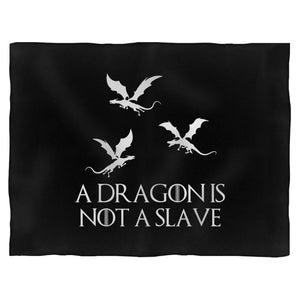 A Dragon Is Not A Slave Iconic Quote Blanket
