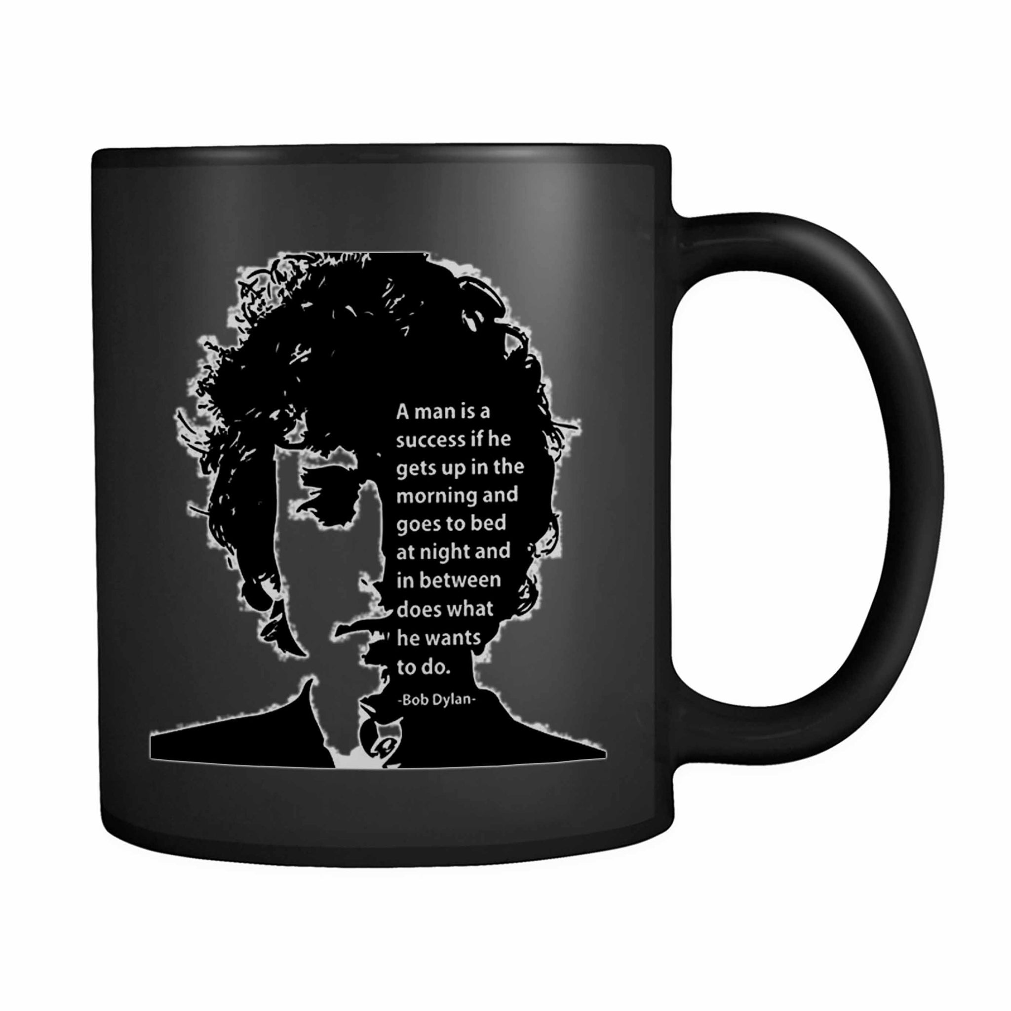 A Man Is A Success If He Gets Up In The Morning 11oz Mug
