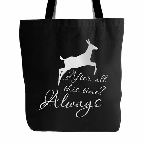 After All This Time Always Little Patronus Doe Tote Bag