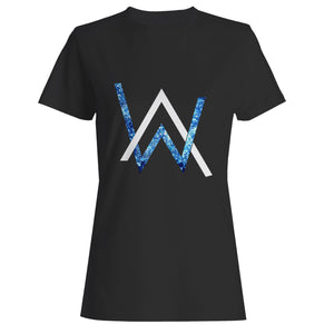 Alan Walker Emblem Glitter Woman's T-Shirt