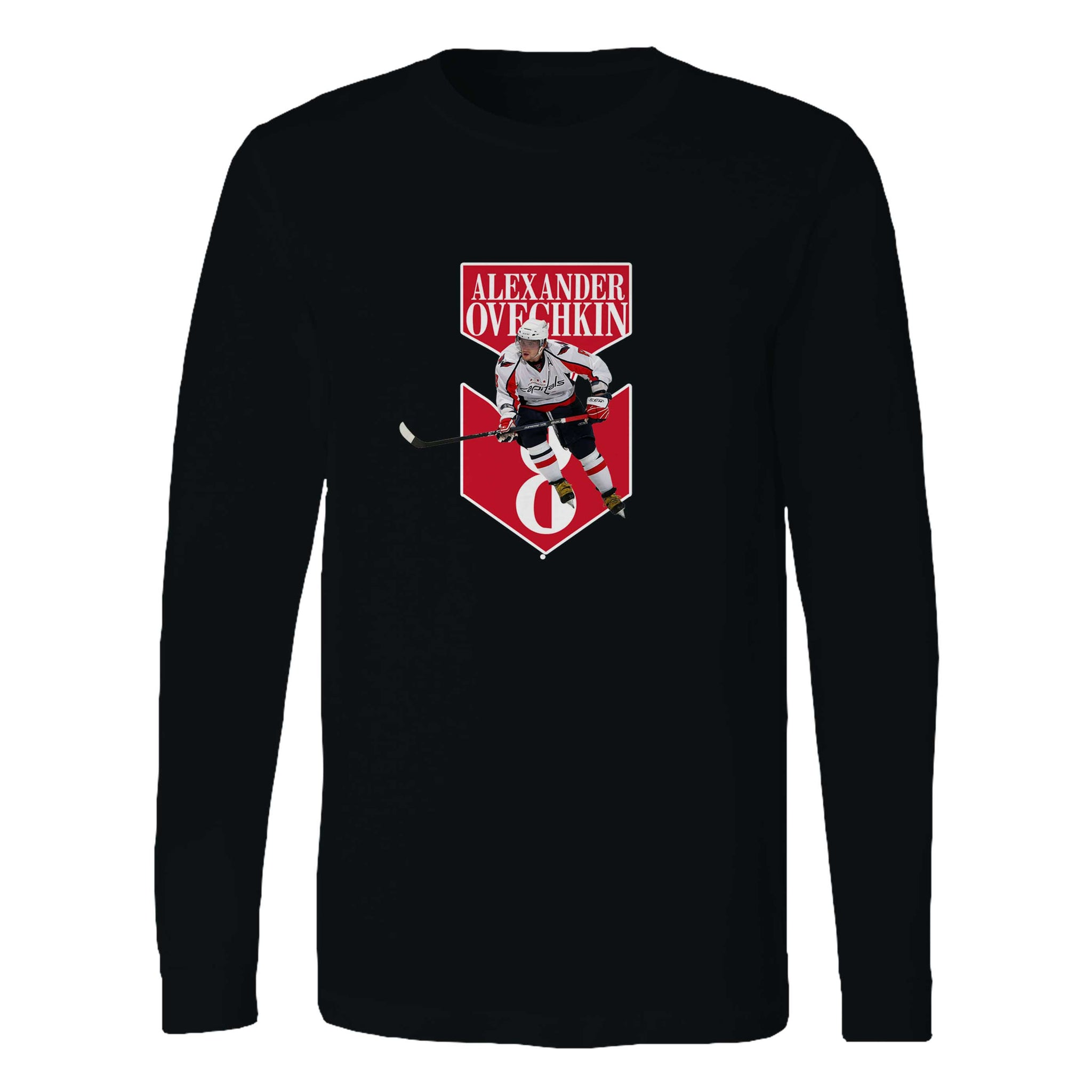 Alex Ovechkin Capitals 8 Long Sleeve T-Shirt