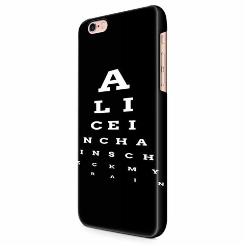 Alice In Chains Eye Chart iPhone 6/6S/6S Plus | 7/7S/7S Plus | 8/8S/8S Plus| X/XS/XR/XS Max 3D Case