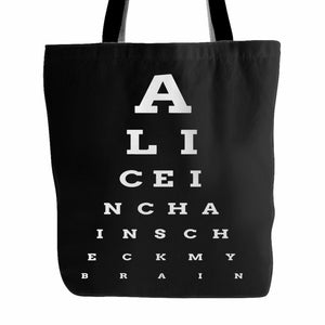 Alice In Chains Eye Chart Tote Bag