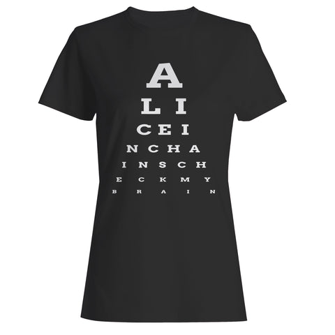 Alice In Chains Eye Chart Woman's T-Shirt