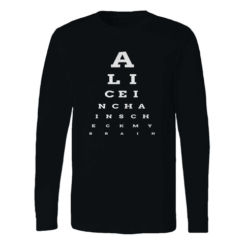 Alice In Chains Eye Chart Long Sleeve T-Shirt