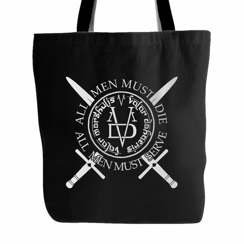 All Men Must Serve Nebula Wall Game Of Throne Tote Bag